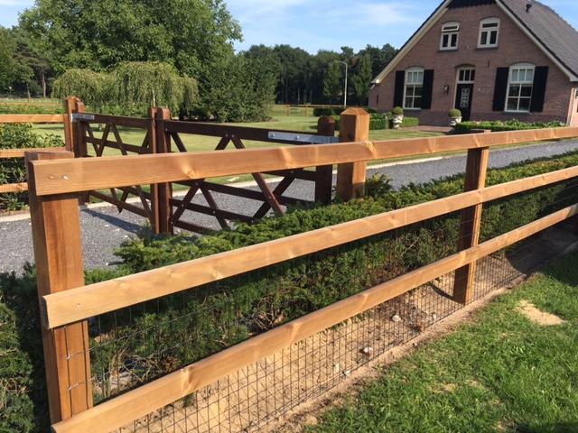 Houten Hekwerk Tuin : Houten hekwerken afrastering foreco innovatief in hout